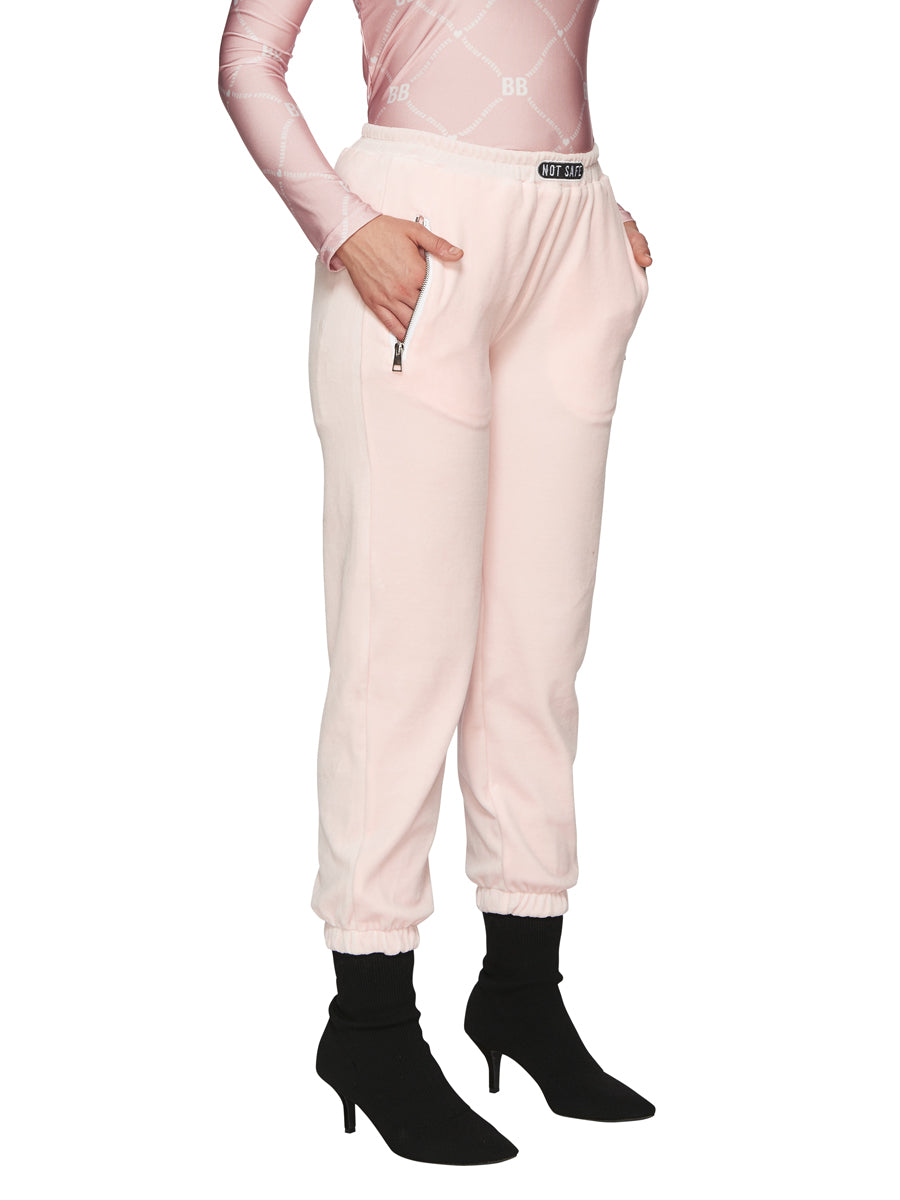 Barbara Bologna Pink Velvet Joggers odd92 exclusive - 2
