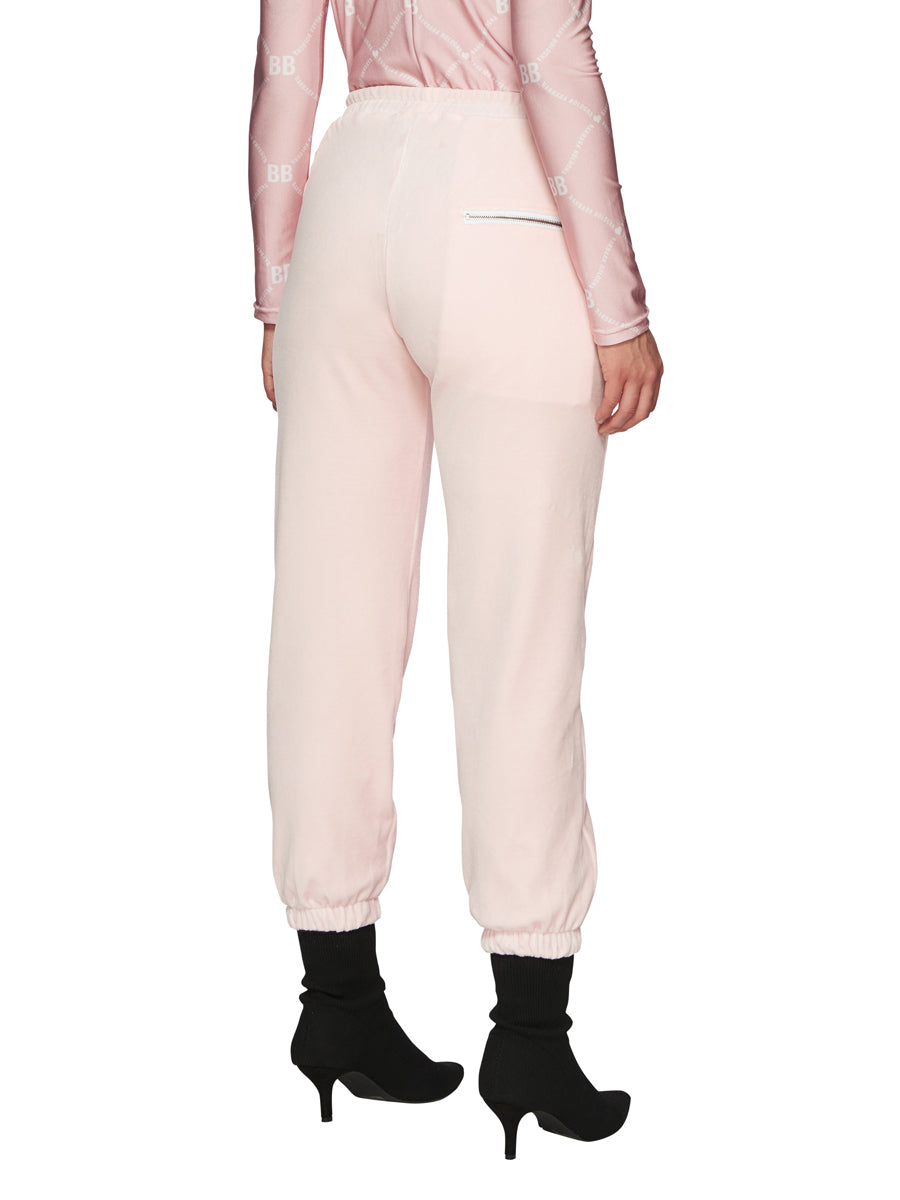 Barbara Bologna Pink Velvet Joggers odd92 exclusive - 3