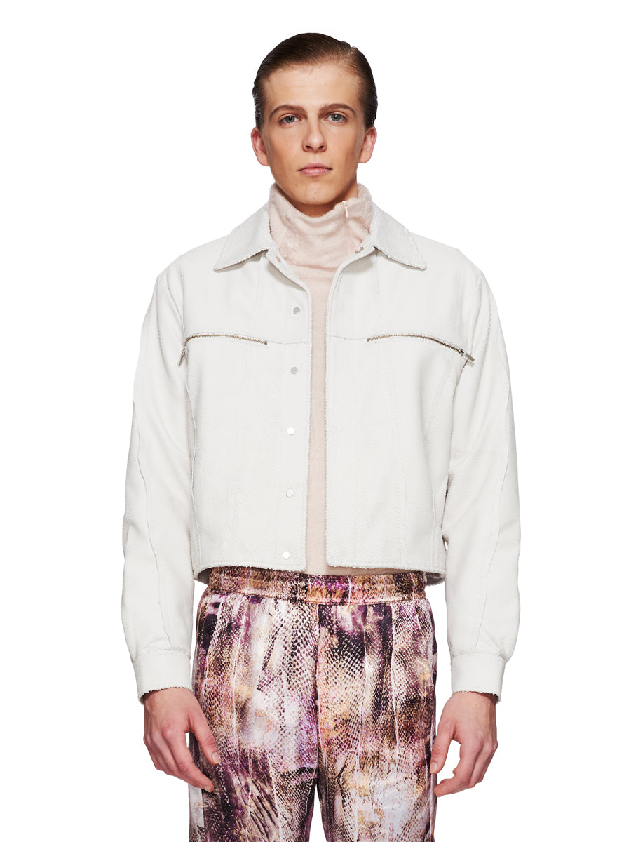 Cottweiler Fall/Winter 2018 Menswear Leather Erosion Jacket odd92 - 3