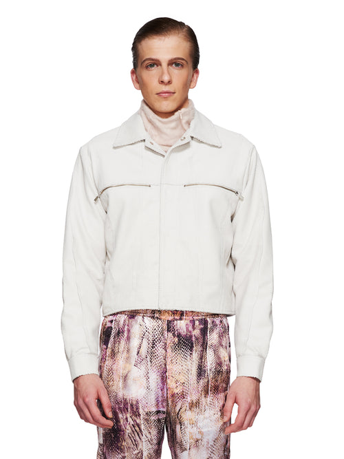 Cottweiler Fall/Winter 2018 Menswear Leather Erosion Jacket odd92 - 1