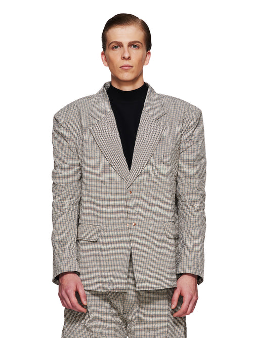 Sankuanz Fall/Winter 2018 Menswear Beige Check Blazer odd92 - 1