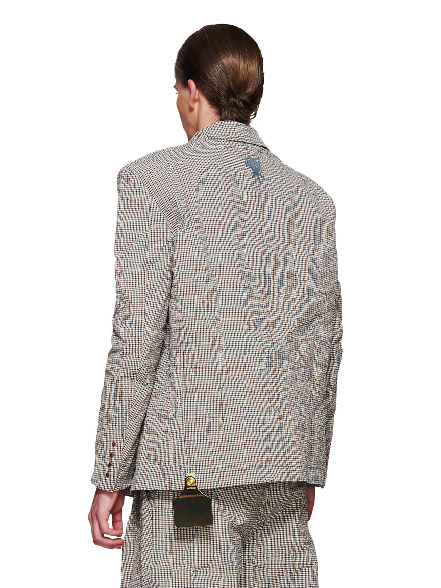 Sankuanz Fall/Winter 2018 Menswear Beige Check Blazer odd92 - 4