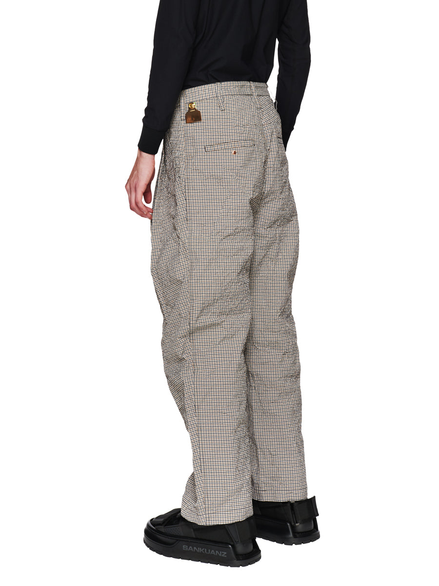 Sankuanz Fall/Winter 2018 Menswear Beige Check Belt Trousers odd92 - 4
