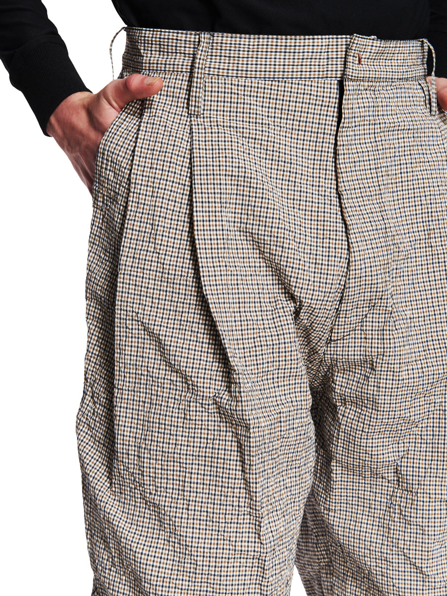 Sankuanz Fall/Winter 2018 Menswear Beige Check Belt Trousers odd92 - 2