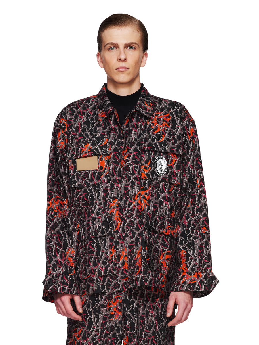 Sankuanz Fall/Winter 2018 Menswear Orange Camo Shirt Jacket odd92 - 1