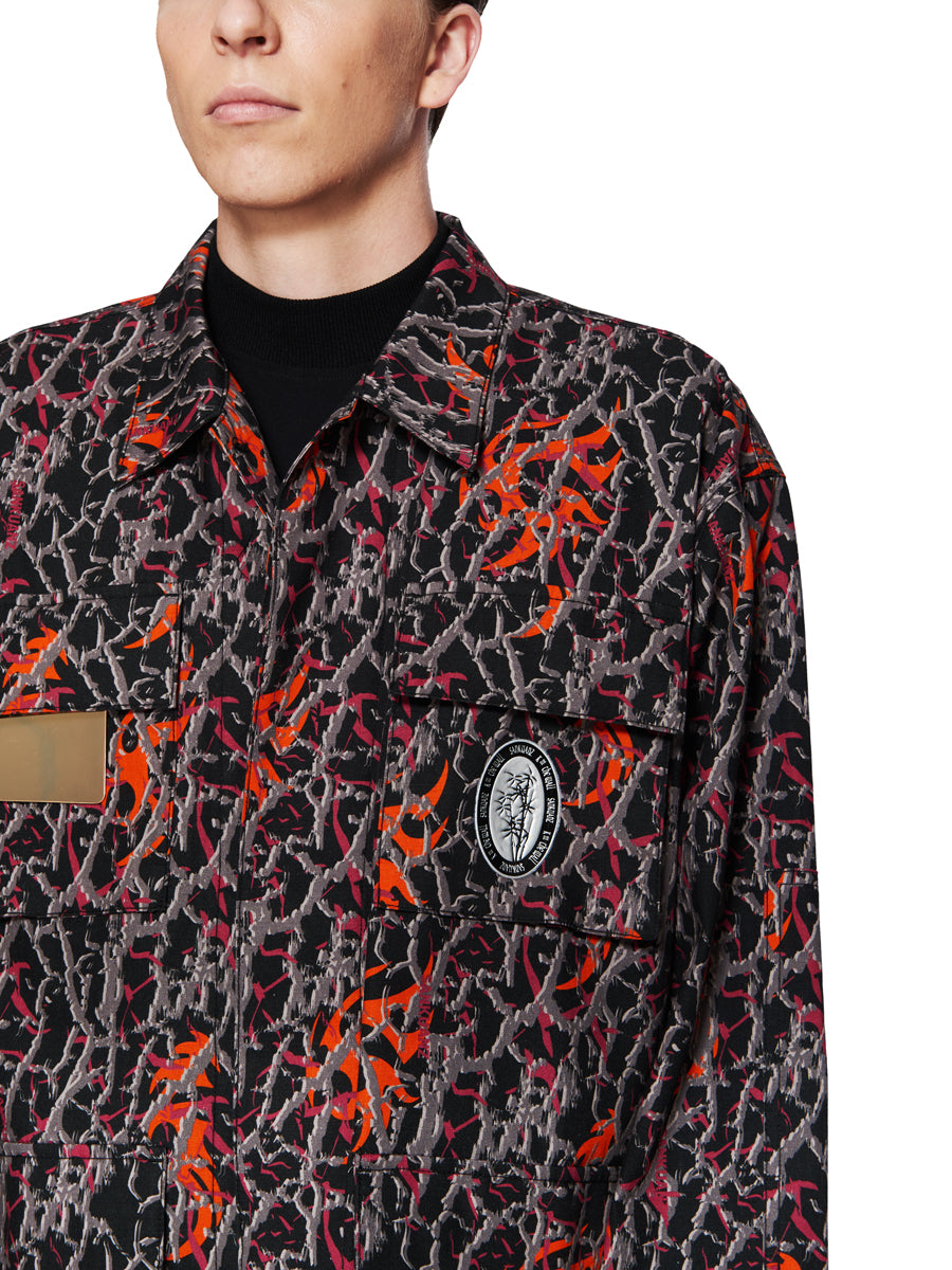 Sankuanz Fall/Winter 2018 Menswear Orange Camo Shirt Jacket odd92 - 5