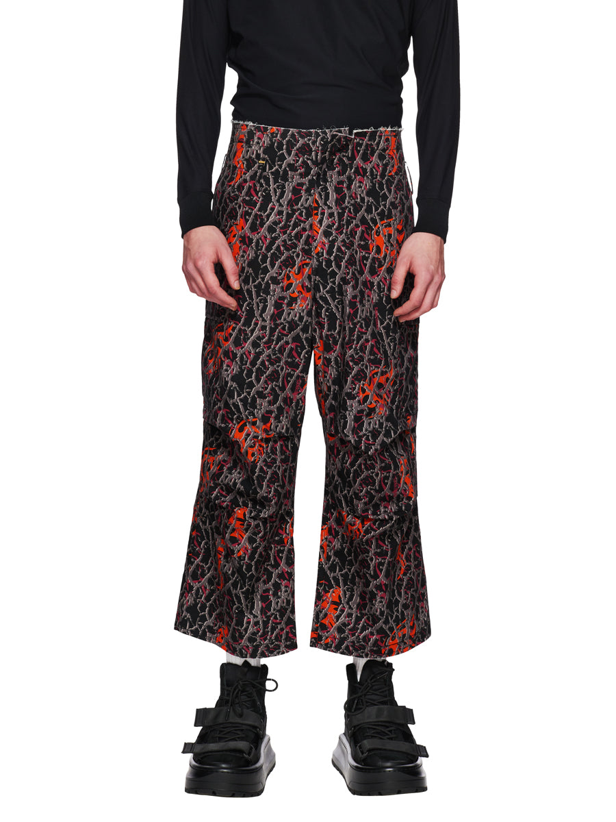 Sankuanz Fall/Winter 2018 Menswear Orange Baggy Camo Pants odd92 - 2