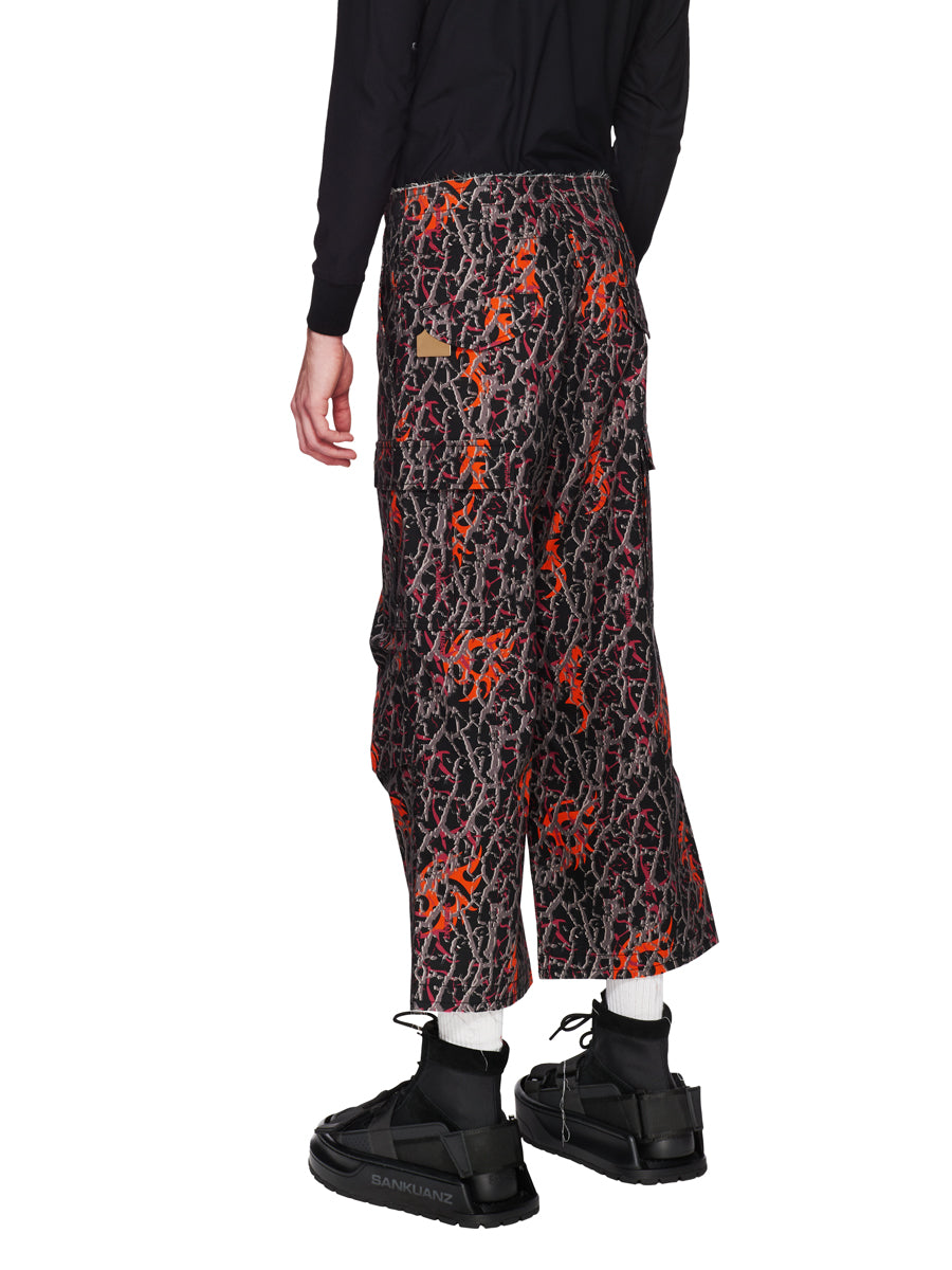 Sankuanz Fall/Winter 2018 Menswear Orange Baggy Camo Pants odd92 - 4