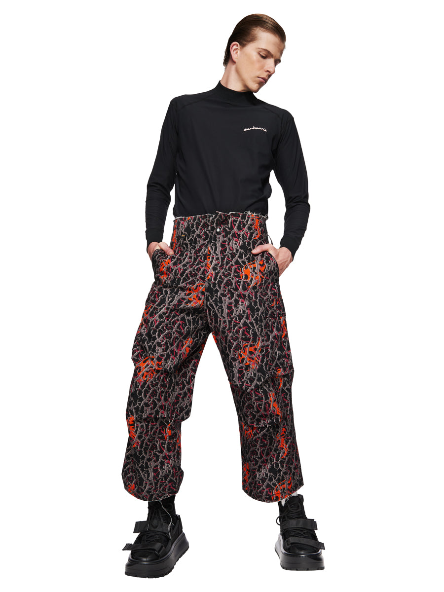 Sankuanz Fall/Winter 2018 Menswear Orange Baggy Camo Pants odd92 - 1