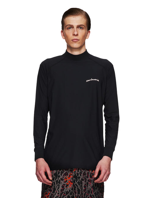 Sankuanz Fall/Winter 2018 Menswear Black Long-Sleeve T-Shirt odd92 - 1