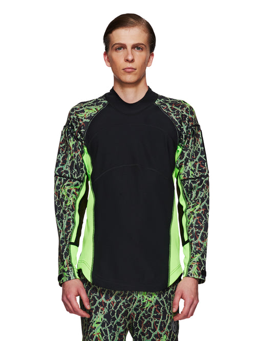 Sankuanz Fall/Winter 2018 Menswear Green Camo Panel Top odd92 - 1