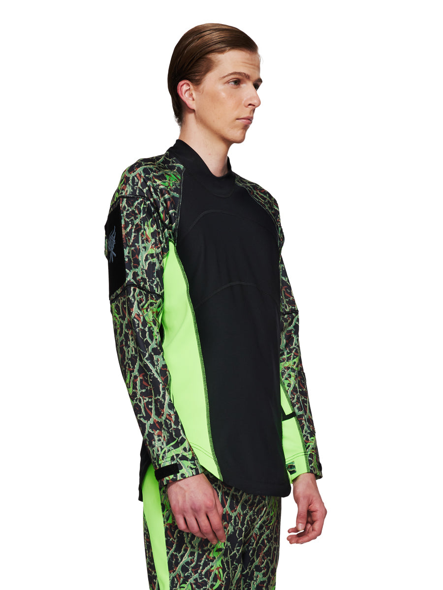 Sankuanz Fall/Winter 2018 Menswear Green Camo Panel Top odd92 - 3