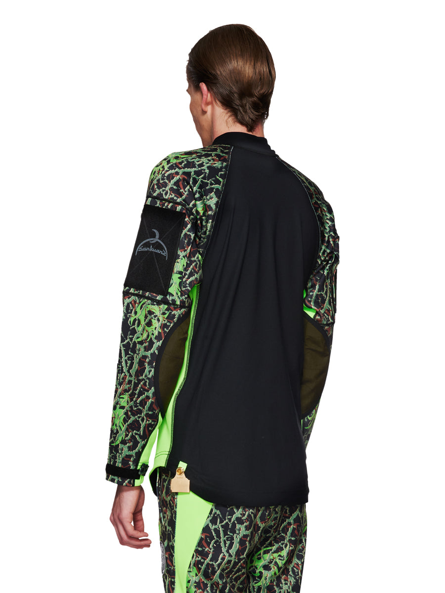 Sankuanz Fall/Winter 2018 Menswear Green Camo Panel Top odd92 - 6