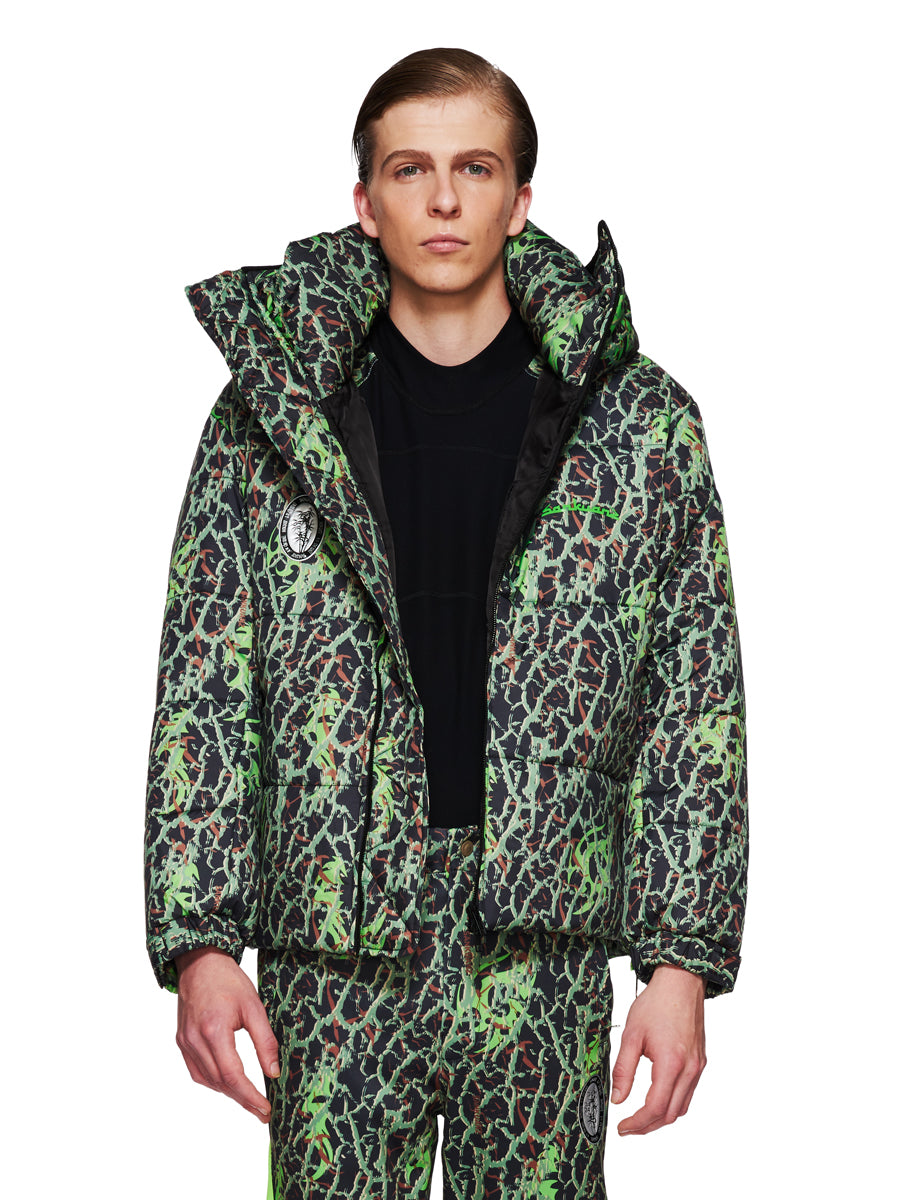 Sankuanz Fall/Winter 2018 Menswear Green Layered Camo Jacket odd92 - 1