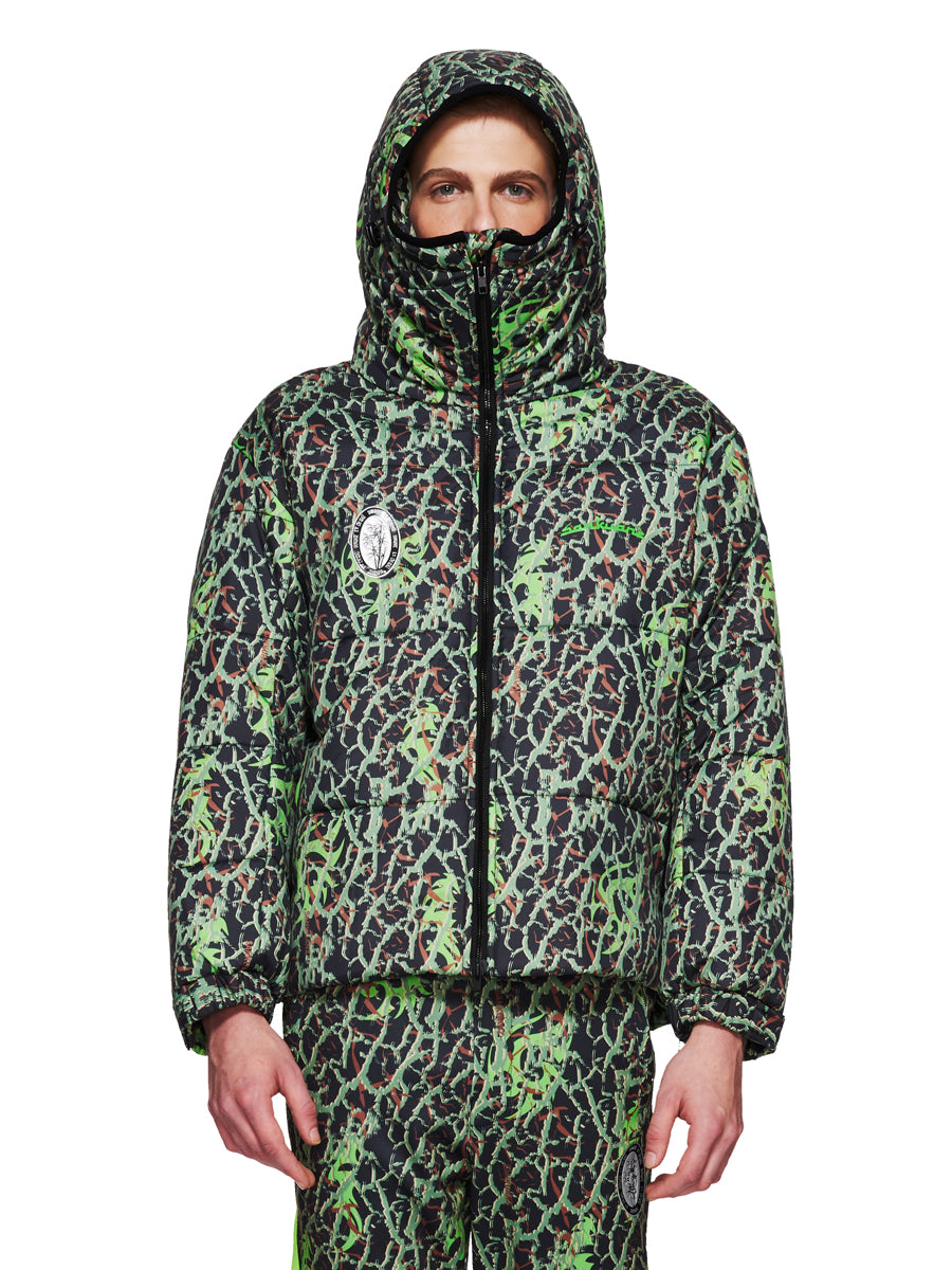 Sankuanz Fall/Winter 2018 Menswear Green Layered Camo Jacket odd92 - 2