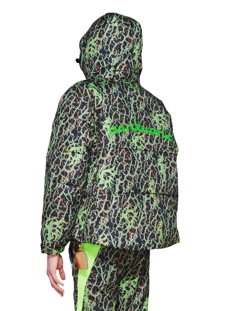 Sankuanz Fall/Winter 2018 Menswear Green Layered Camo Jacket odd92 - 3