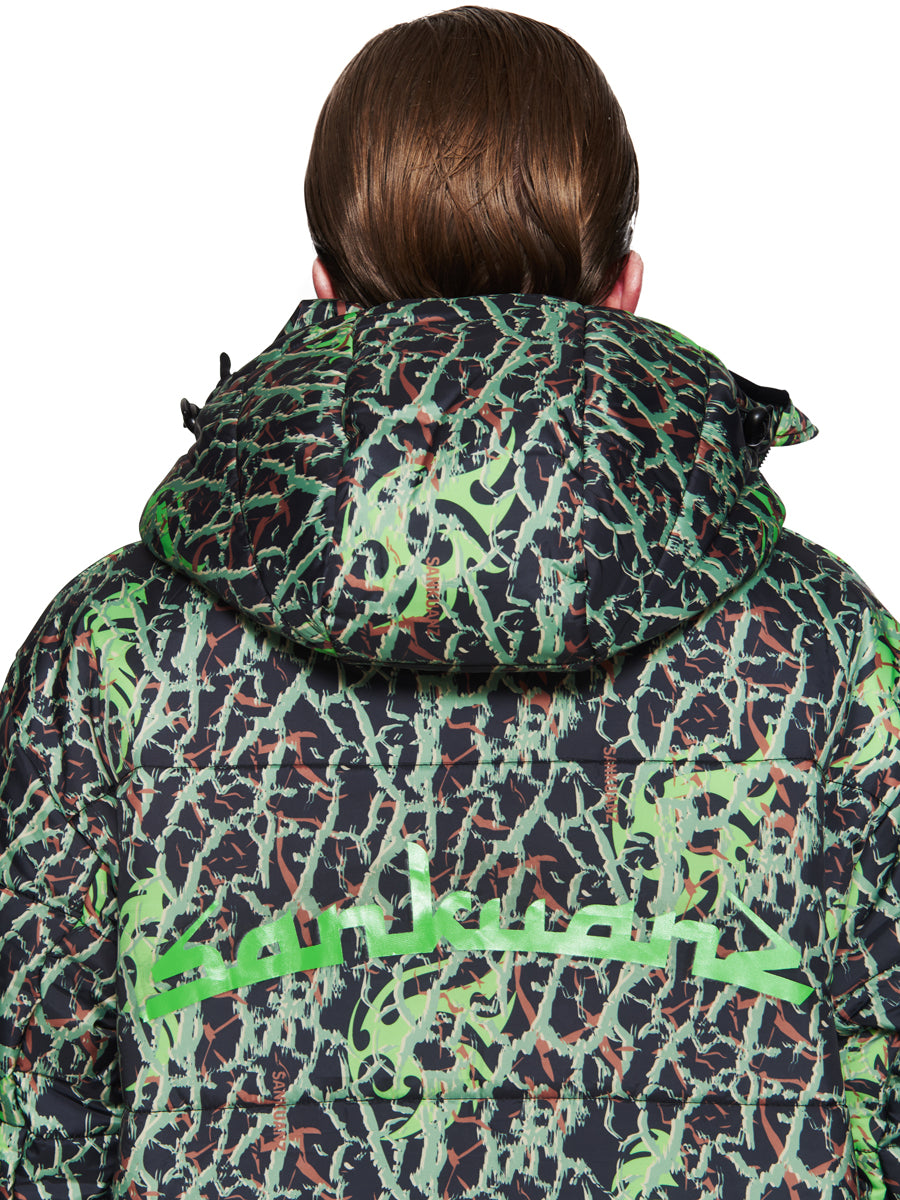 Sankuanz Fall/Winter 2018 Menswear Green Layered Camo Jacket odd92 - 6