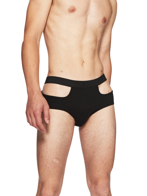 Nicola Indelicato Black Cut-Out Underwear odd92 - 1