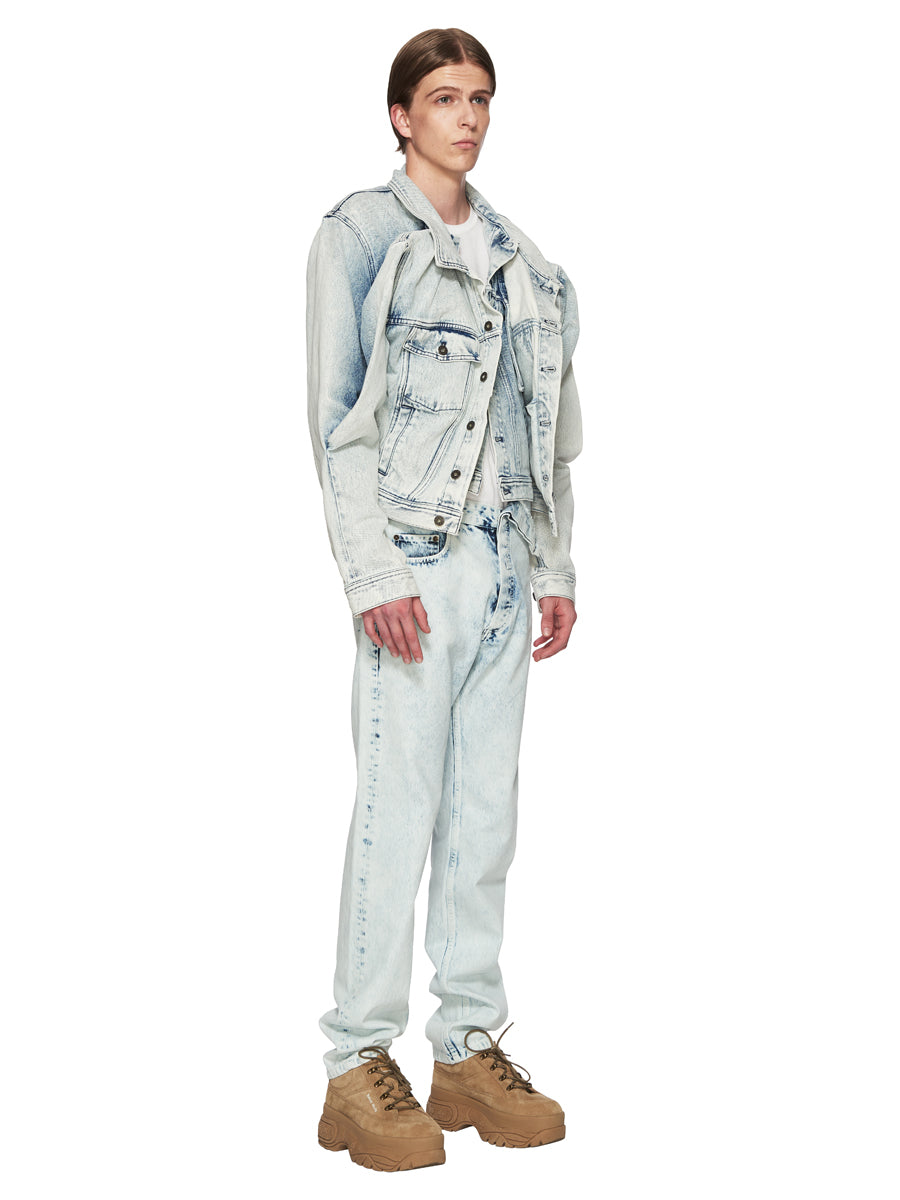 Y/Project White Double Front Denim Jacket odd92 - 4