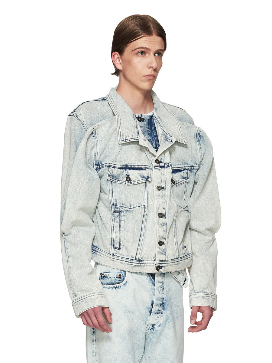 Y/Project White Double Front Denim Jacket odd92 - 3