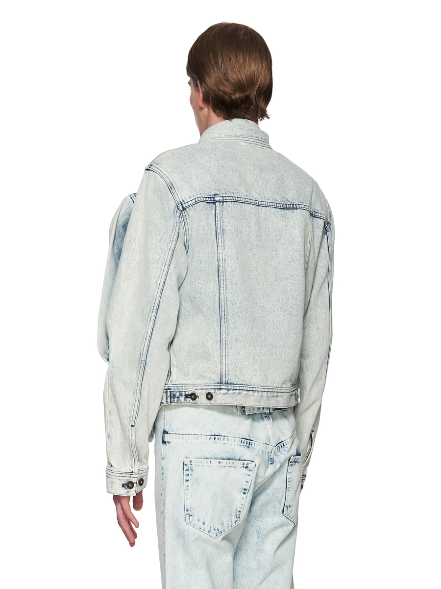 Y/Project White Double Front Denim Jacket odd92 - 5