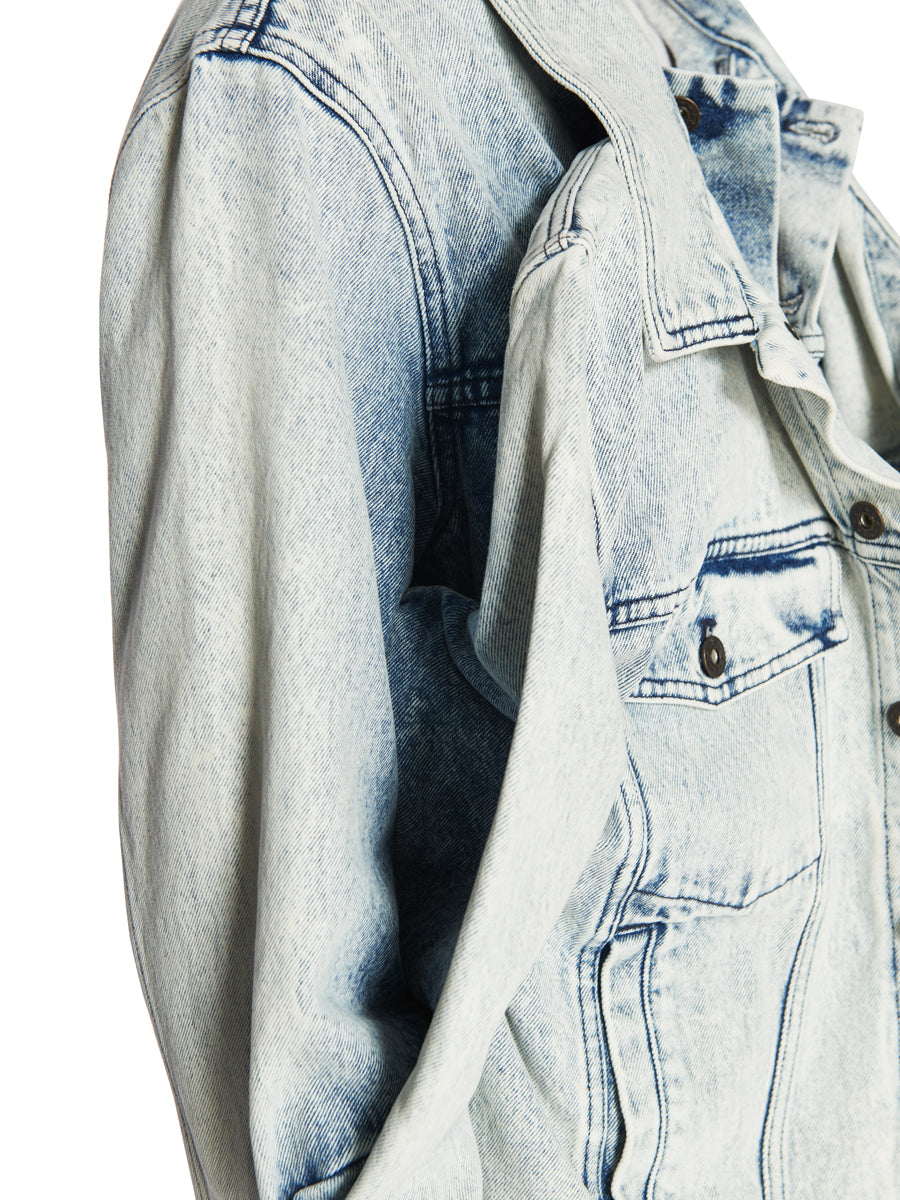 Y/Project White Double Front Denim Jacket odd92 - 2