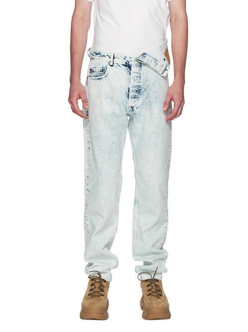 Y/Project White Asymmetric Denim Jeans odd92 - 1
