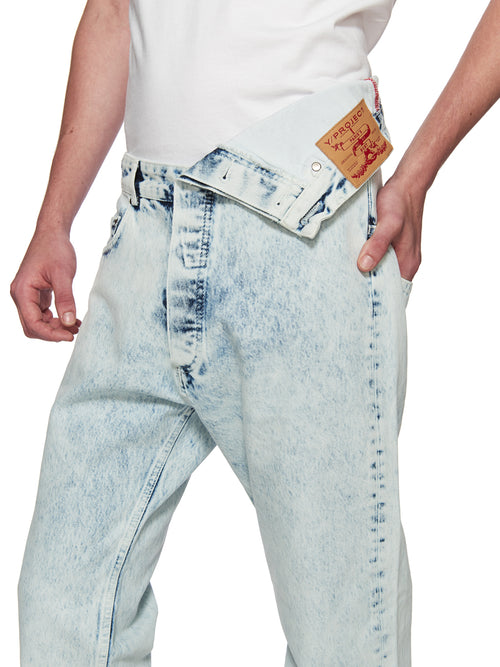 Y/Project White Asymmetric Denim Jeans odd92 - 2