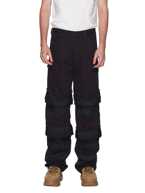 Y/Project Navy Multi Cuff Trousers odd92 - 1