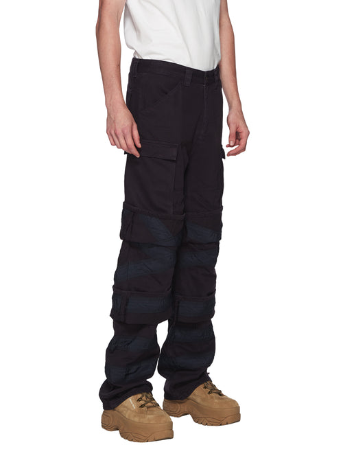 Y/Project Navy Multi Cuff Trousers odd92 - 2
