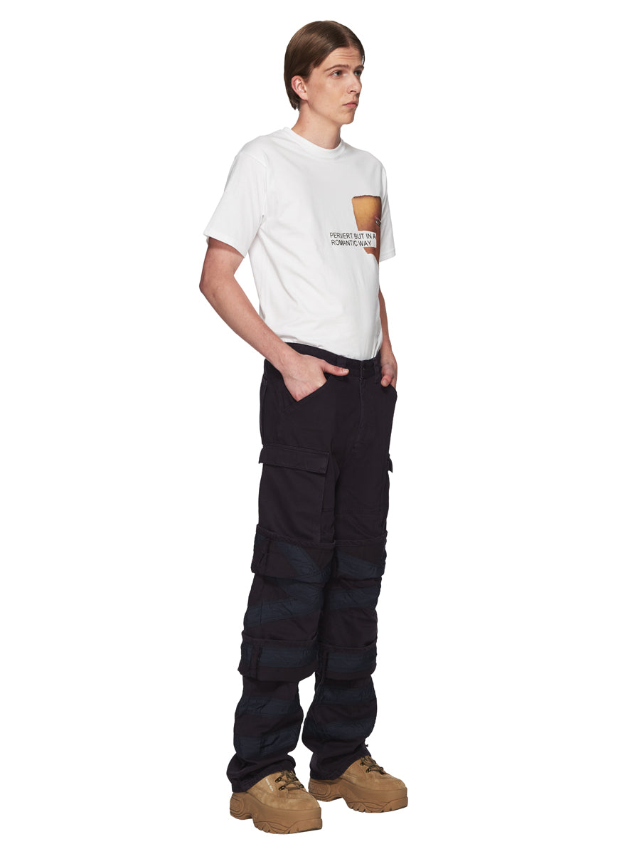 Y/Project Navy Multi Cuff Trousers odd92 - 4