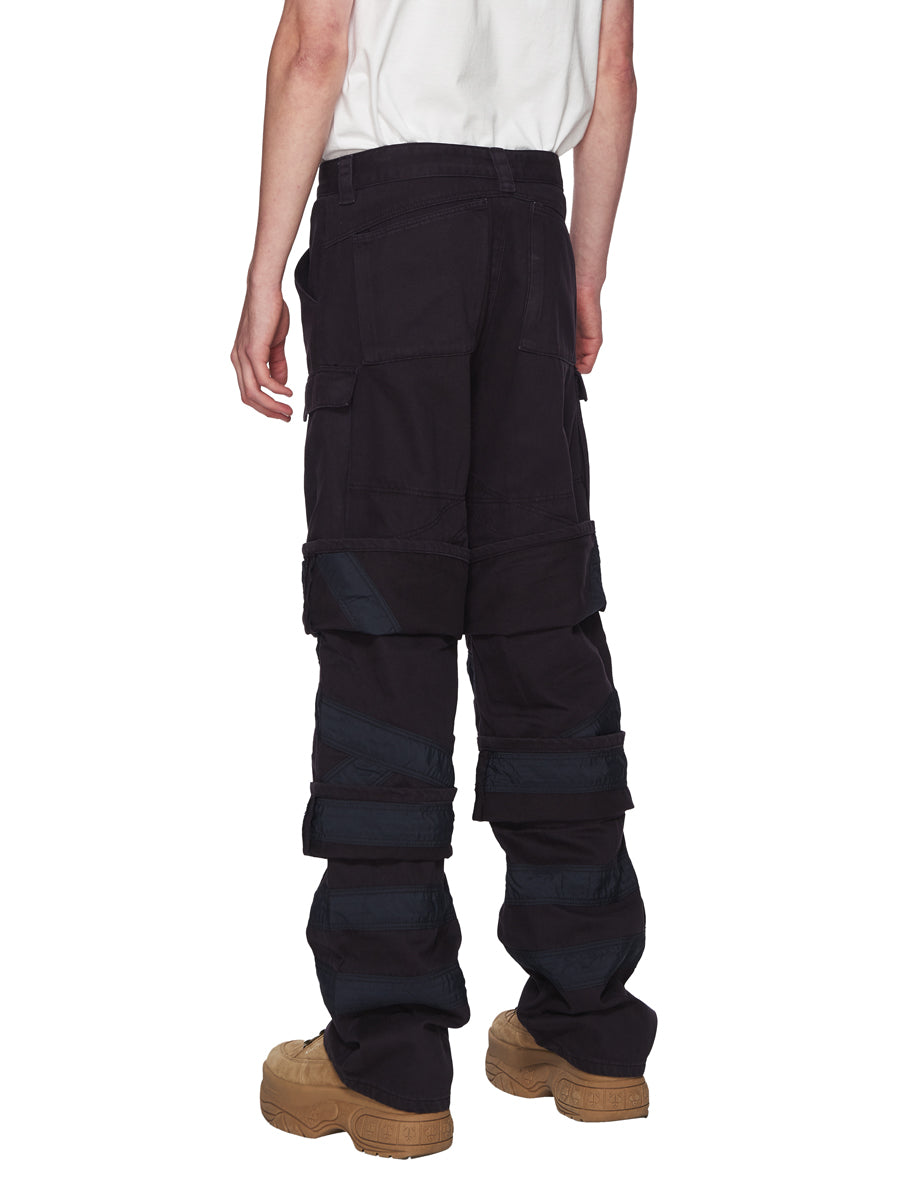 Y/Project Navy Multi Cuff Trousers odd92 - 3