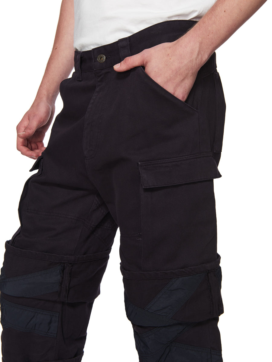 Y/Project Navy Multi Cuff Trousers odd92 - 5