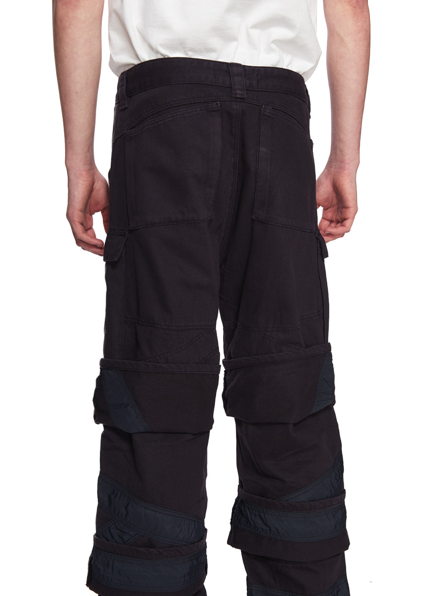 Y/Project Navy Multi Cuff Trousers odd92 - 6