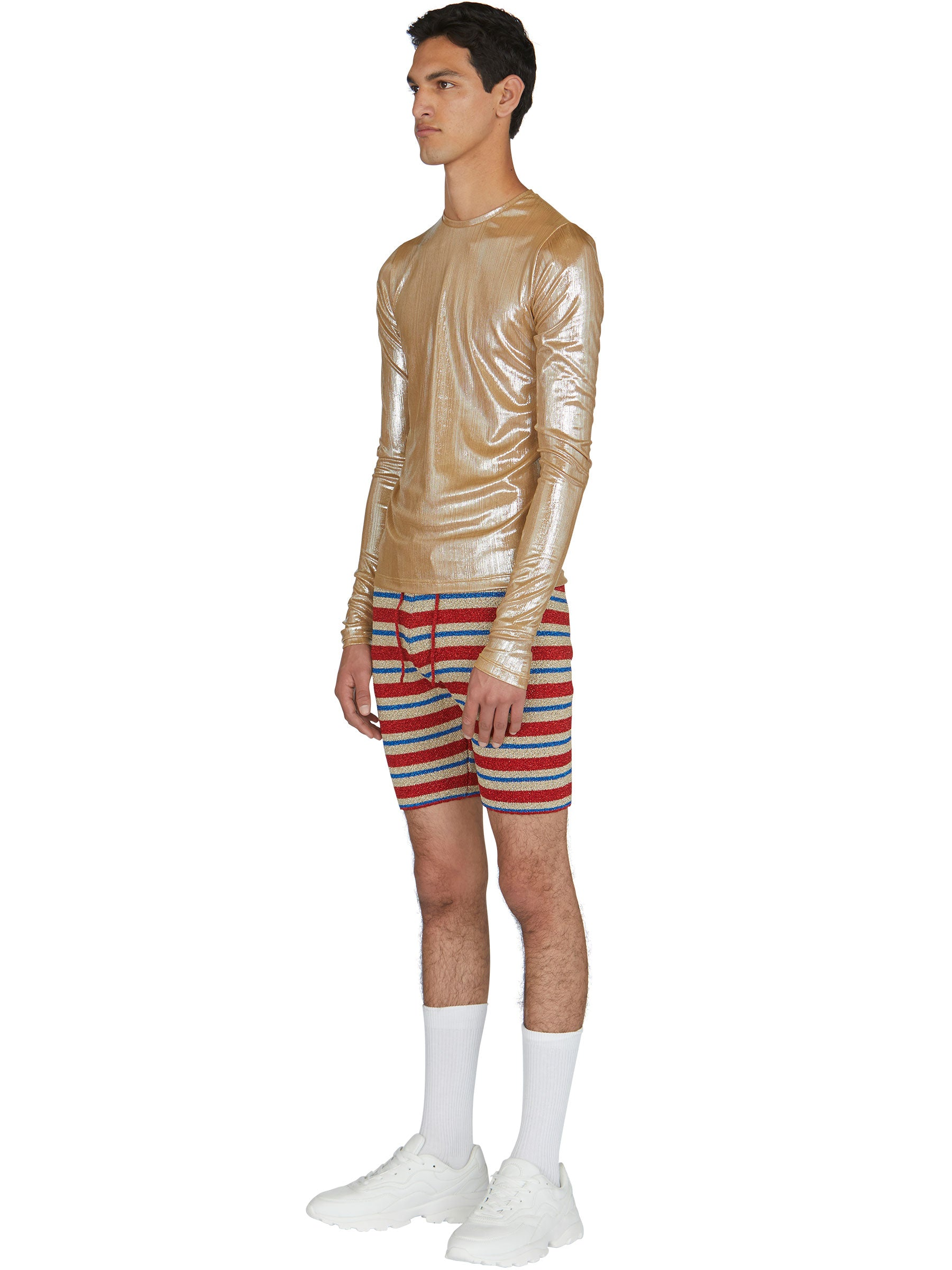 odd92 Shop Lazoschmidl Spring/Summer 2019 Menswear Blanche Foil Pleat Top - 4