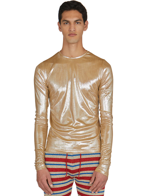 odd92 Shop Lazoschmidl Spring/Summer 2019 Menswear Blanche Foil Pleat Top - 2