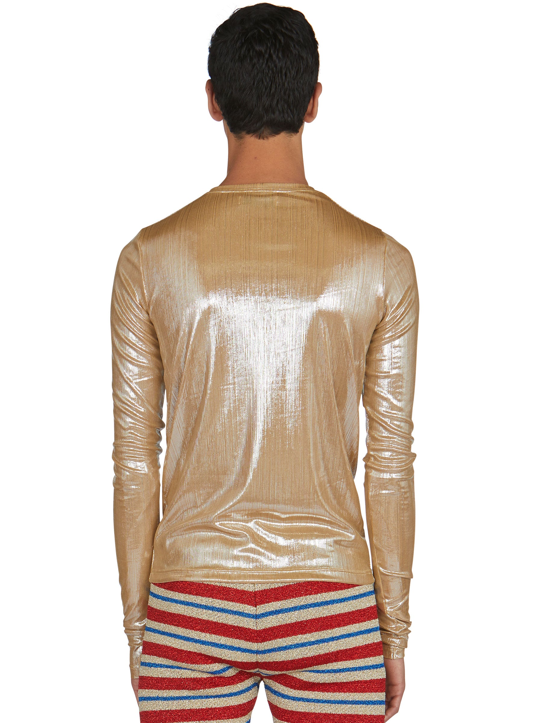 odd92 Shop Lazoschmidl Spring/Summer 2019 Menswear Blanche Foil Pleat Top - 3