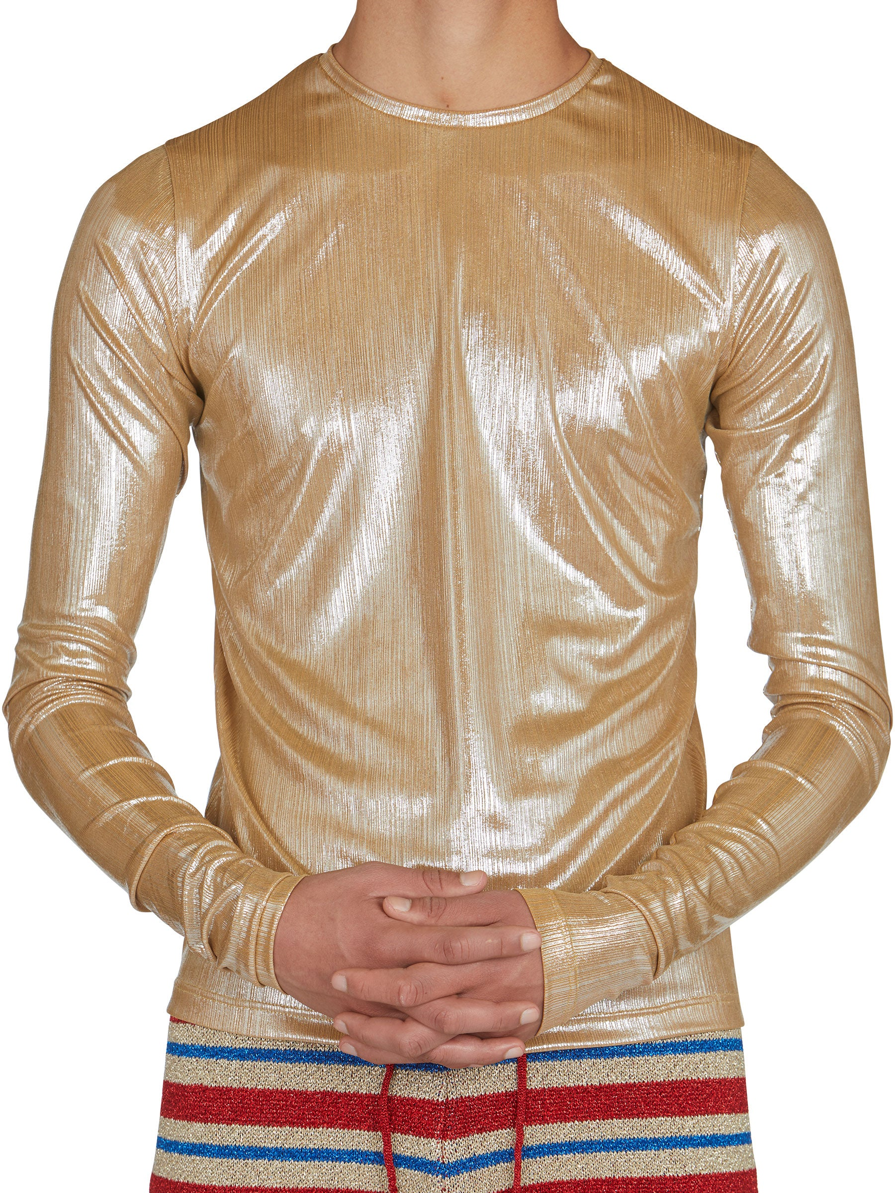 odd92 Shop Lazoschmidl Spring/Summer 2019 Menswear Blanche Foil Pleat Top - 5