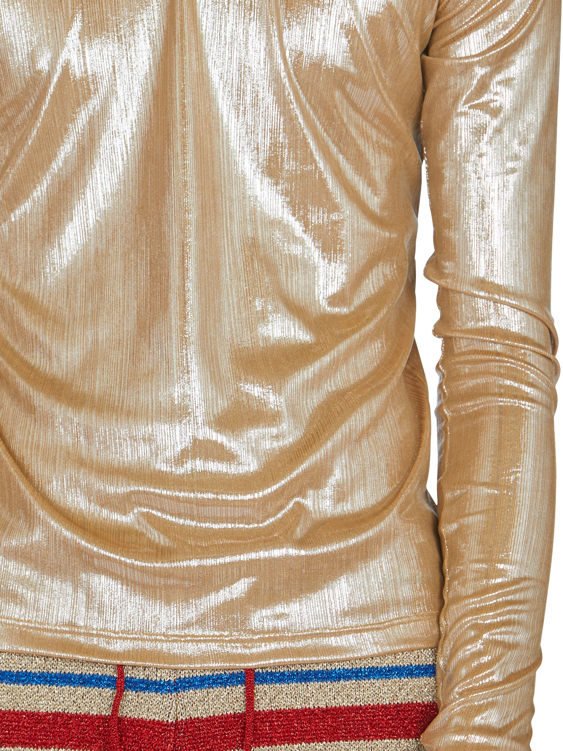odd92 Shop Lazoschmidl Spring/Summer 2019 Menswear Blanche Foil Pleat Top - 6