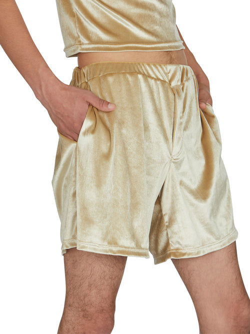 odd92 Shop Lazoschmidl Spring/Summer 2019 Menswear Peter Velour Shorts - 2