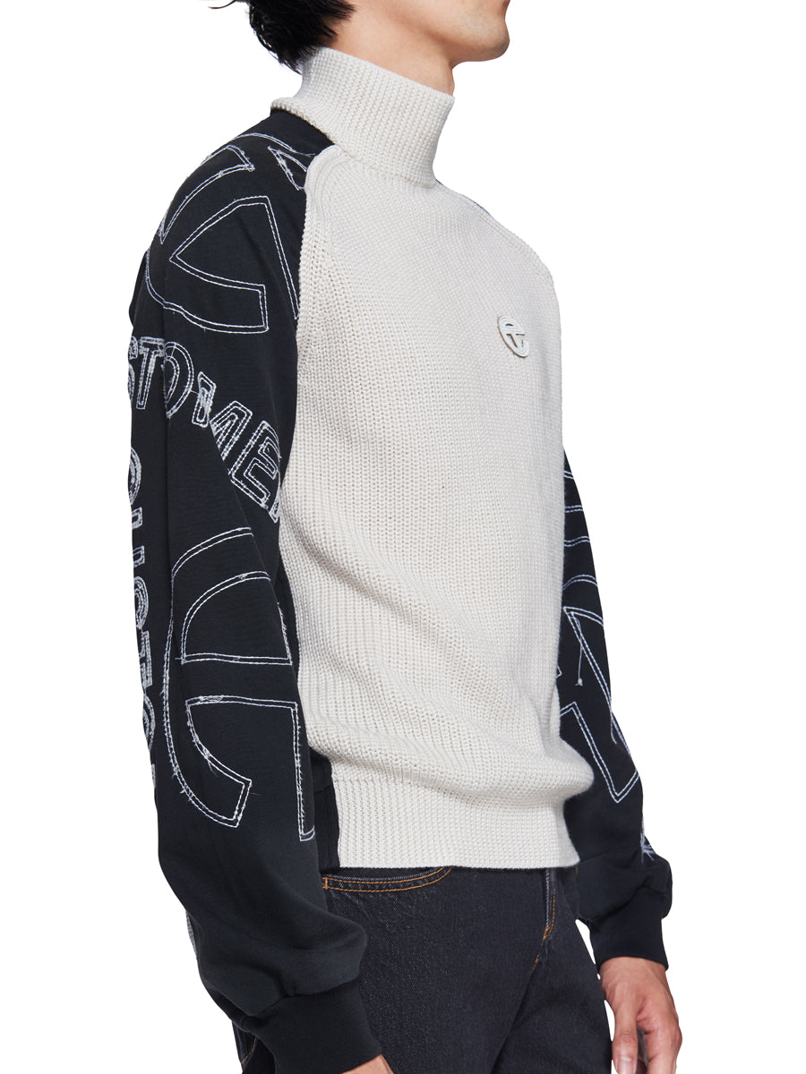 Mock Neck Inverse Sweater