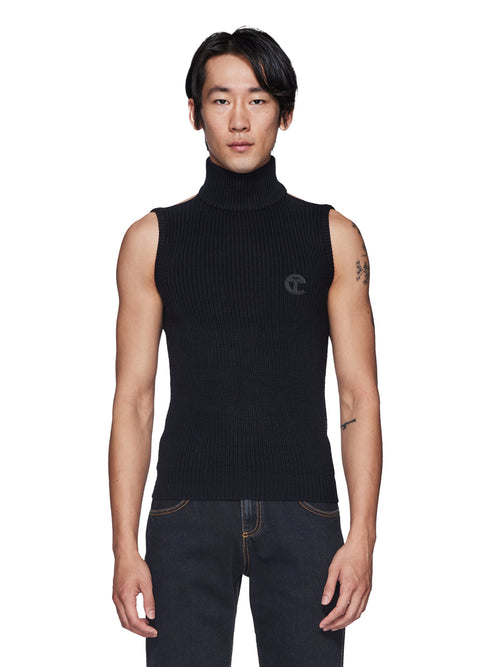 Mock Neck Halter Sweater