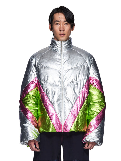 Angus Chiang Fall/Winter 2018 Menswear Patch Down Jacket odd92 - 1
