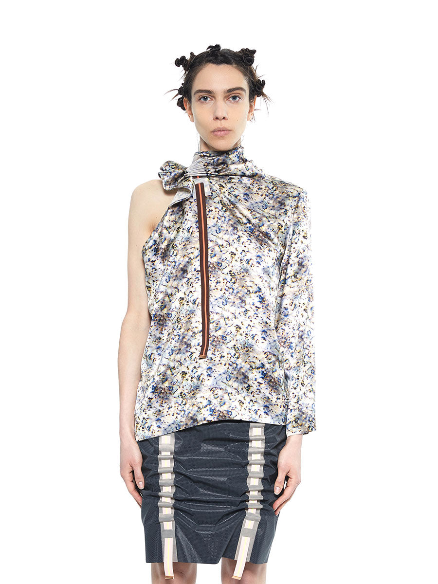 Martina Spetlova multi color printed silk top - 1