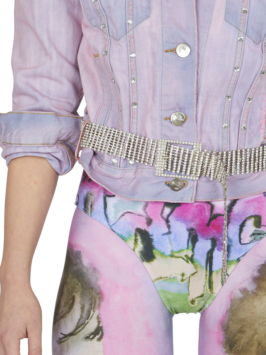 odd92 Shop Neith Nyer Spring/Summer 2019 Womenswear Tie Dye Crystal Denim Jacket - 7