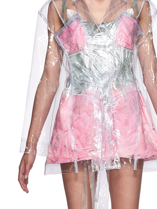 Neith Nyer SS18 Runway Mariah Clear Feather Coat - 2