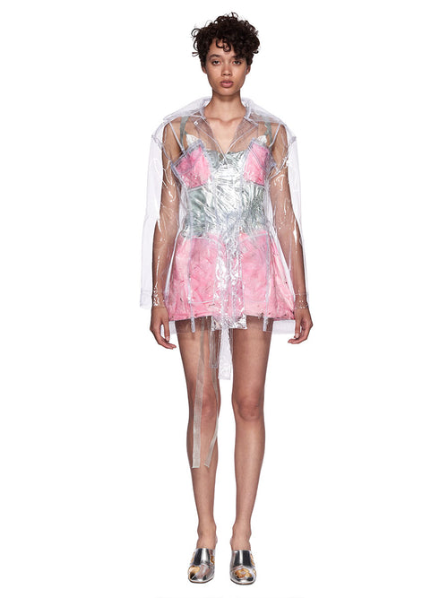 Neith Nyer SS18 Runway Mariah Clear Feather Coat - 1