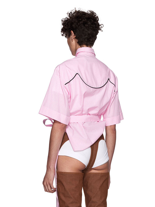 Neith Nyer Resort SS18 Pink Cowgirl Striped Shirt - 2