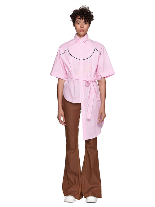 Neith Nyer Resort SS18 Pink Cowgirl Striped Shirt - 1