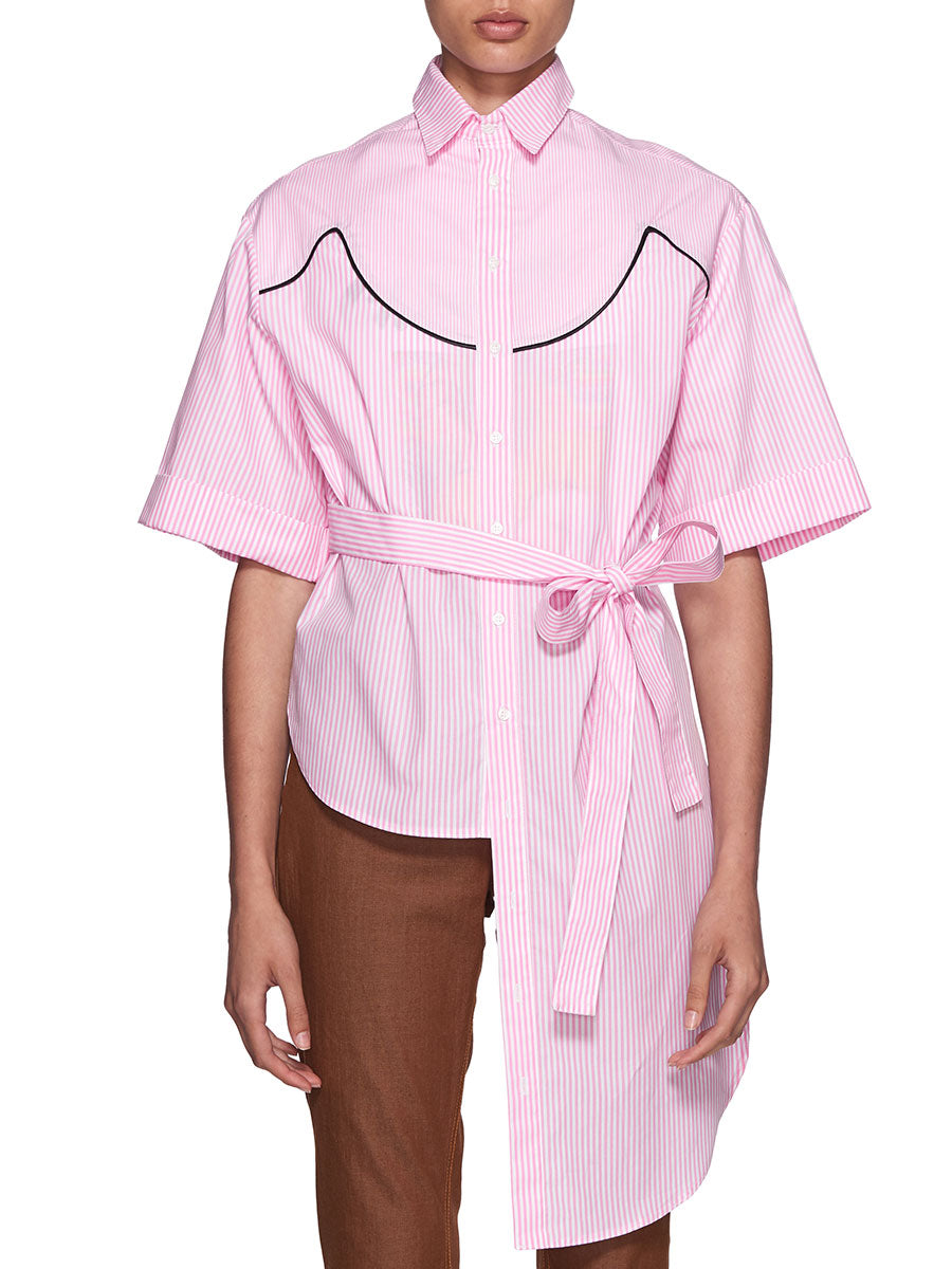 Neith Nyer Resort SS18 Pink Cowgirl Striped Shirt - 4